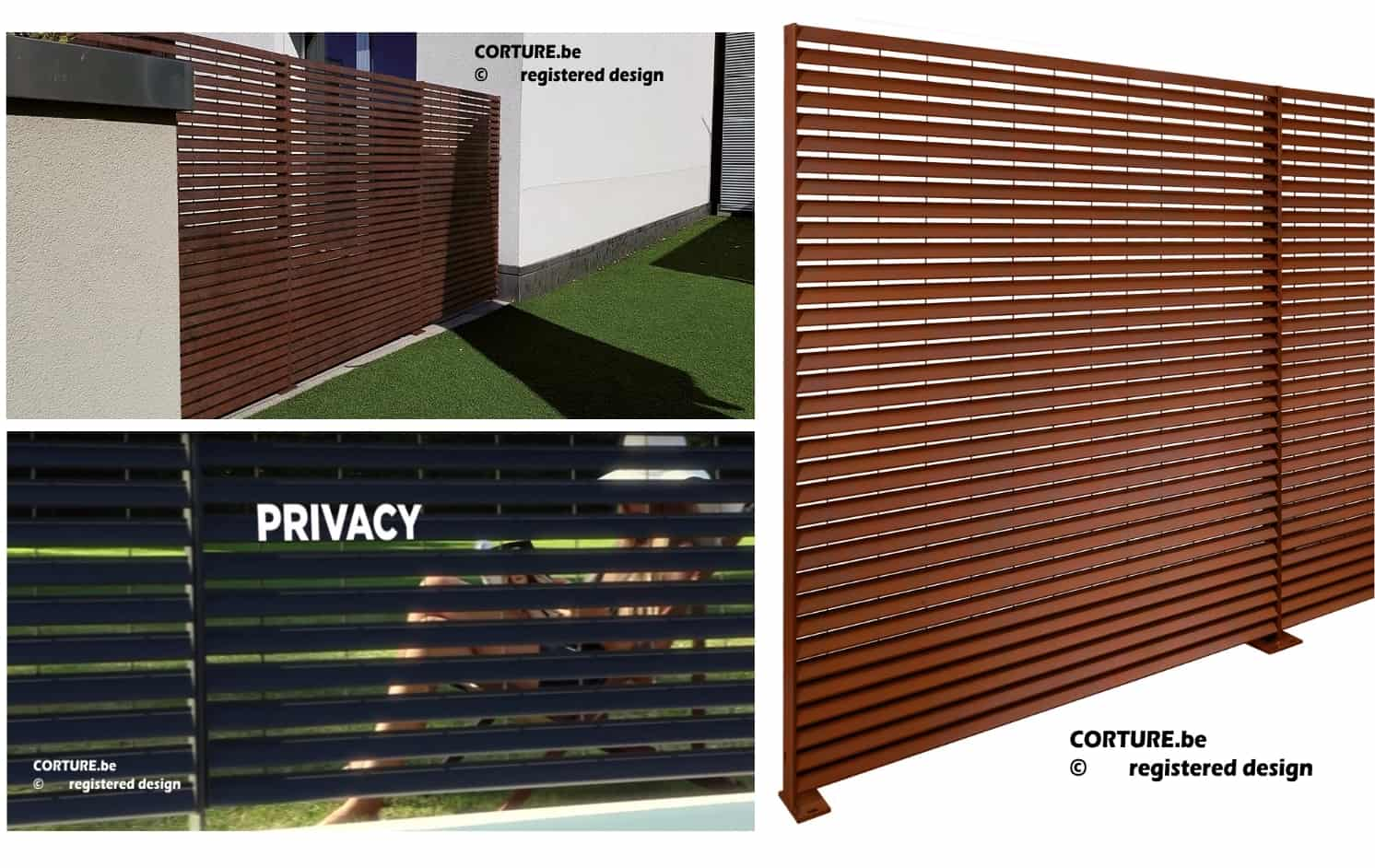 Corten staal omheining bouveloo corture